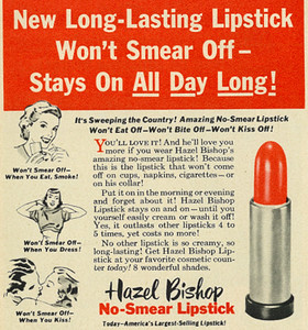 Hazel bishop ad