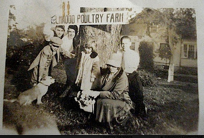 Mueller Family and the Elmwood Poultry Farm at 163 Elmwood ave. The house is still there.