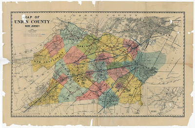 1923 map indicating proposed routes of Route 22.