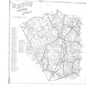 Union 1860 tax map
