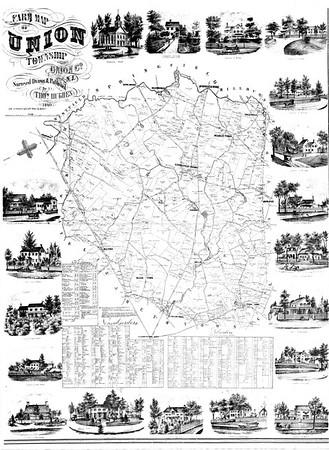 Union Township farm map 1860