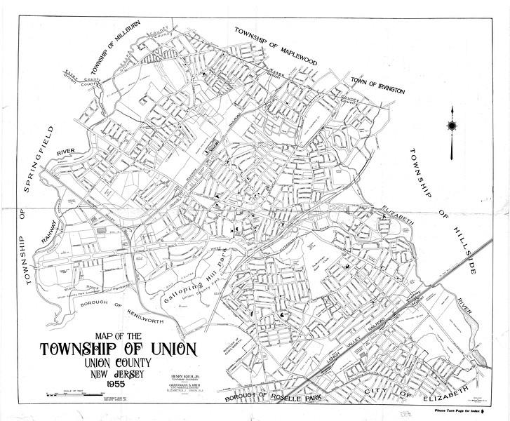 Union 1955 map