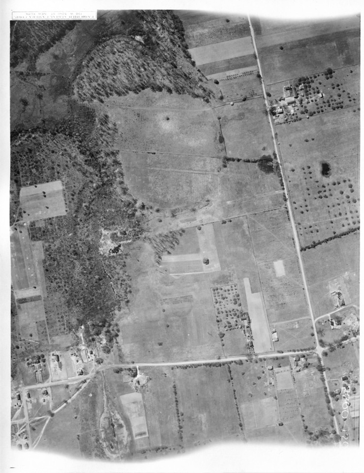 showing Route 22 and Springfield Rd. in Kenilworth. The dried up pond in the lower left is Blackbrook Park.