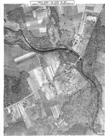 Milltown Road in Union and Springfield. The dam on the Rahway River can be seen when zoomed in.