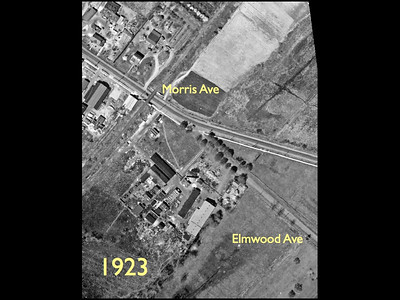Aerial photo of the junction of Morris Ave. and Elwood ave in 1923.