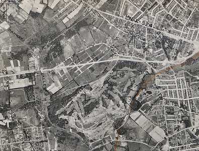 1931 Aerial showing Route 29 currently route 22, Galloping Hill Golf  Course etc.