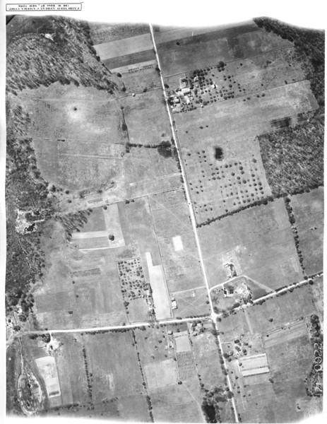 1923 Aerial showing what is now Route 22 east and Springfield Rd. on the bottom right of the photo is the pond in Blackbrook Park and the Sayre / Shallcross House.