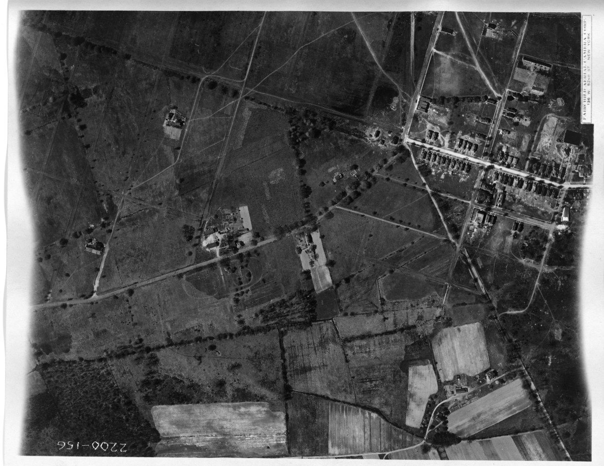 1923 Aerial of Kenilworth showing a very wide 21st St. and Newark Ave. which was an early development of row houses, most of which still stand today.