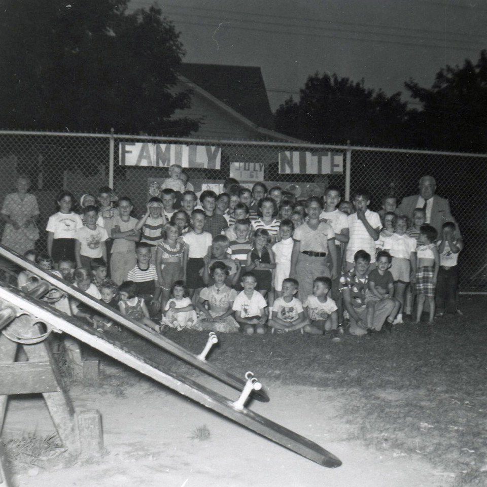 FAMILY NIGHT-HIGHSCHOOL PLAYGROUND NOW BURNET MIDDLE SCHOOL 1961