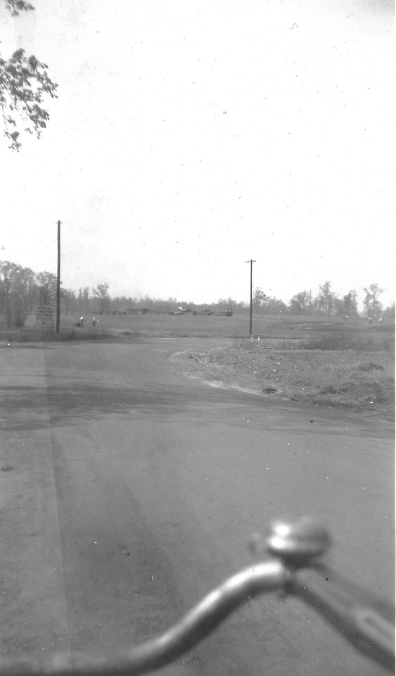 This is the only photo we have seen of the Battle Hill Golf Course taken in the 1940s by William Young while riding on his bike. The photo was taken looking north on Springfield Rd. toward where the Bed, Bath and Beyond building stands currently. Mr. Young was a huge fan of the RVRR and took hundreds of photos. I am guessing that he was too late to get a closer shot of the train and we are lucky to have a shot of the golf course where it borders Springfield Rd and of the road itself.