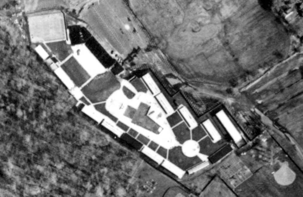 Brookside swim club aerial 1961
