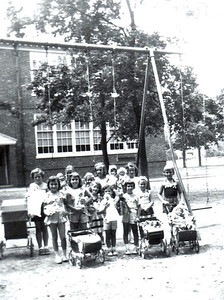 WASHINGTON SCHOOL PLAYGROUND-DOLL SHOW-1955