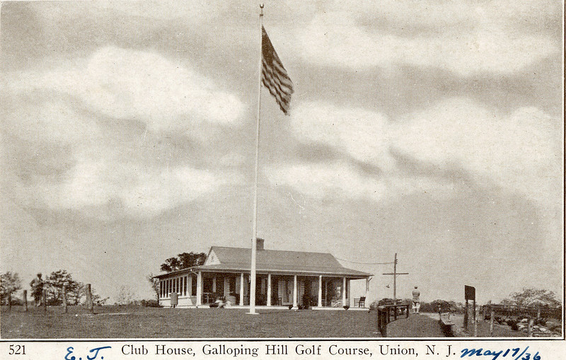 Club House at Galloping Hill Golf Course in 1936. The building was recently torn down to build a new club with catering hall.