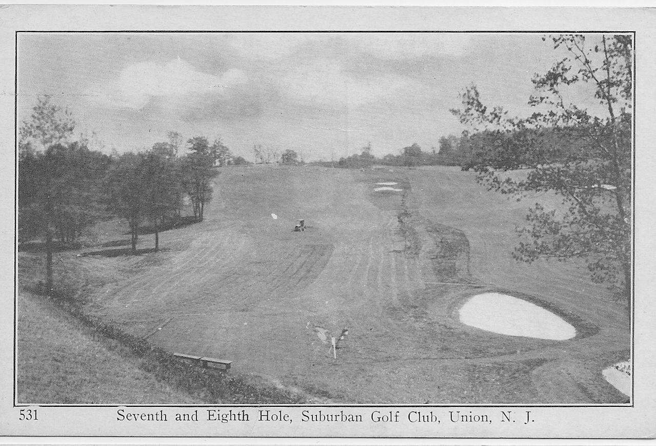 Suburban golf holes