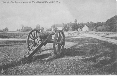 This historic cannon remains today in approximately the same place at the intersection of Stuyvesant Ave. and Elmwood Ave. Looking eastward on Stuyvesant we see on the left, a Bonnel home and on the right the Hanson Home.  We can only speculate about the reason that  the cannon is pointed directly at H. A. Hanson's residence.