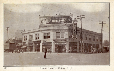 """Union Center way back when it was legal to make a left hand turn there. The Falls Building was the first """"modern"""" building in Union Center."""