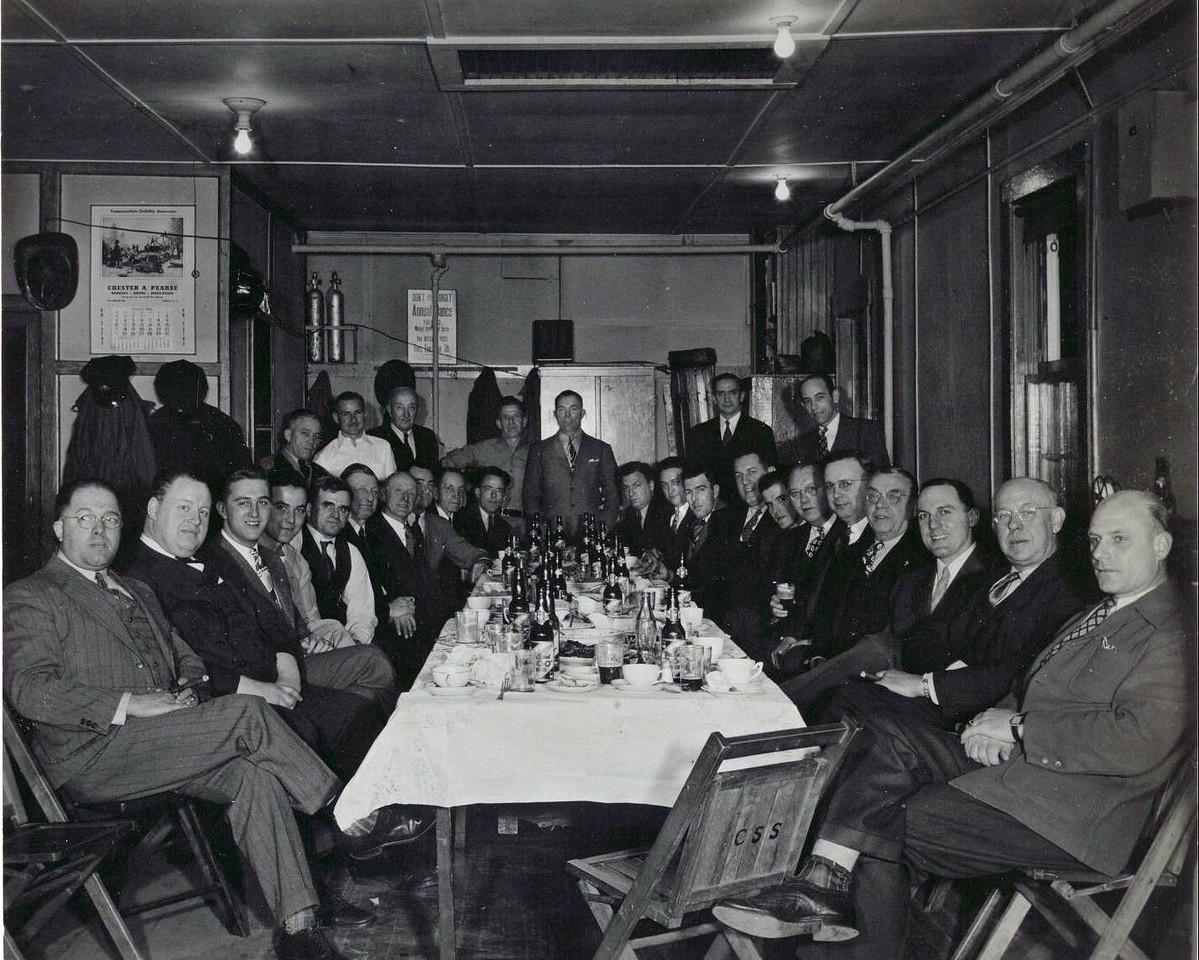 1940 Fireman's Dinner at Station #3.