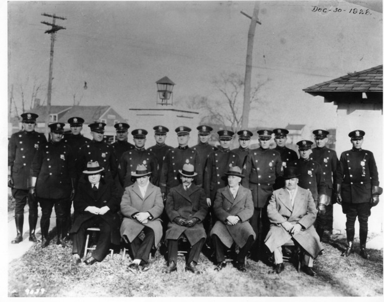 Police force and Township Commitee in 1928.