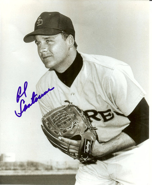 Al Santorini-  Alan Joel Santorini (born May 19, 1948 in Irvington, New Jersey) is a former Major League Baseball pitcher. He played for Union High School and  all or part of six seasons in the majors, from 1968 until 1973, for the Atlanta Braves, San Diego Padres and St. Louis Cardinals. http://en.wikipedia.org/wiki/Al_Santorini