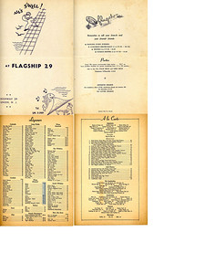 A Flagship menu way back when a cheeseburger was 30 cents and a filet mignon was $1.75.