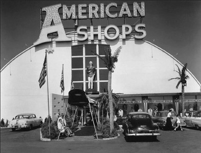 The mighty stern of the Flagship in the 50's when it housed The American Shops clothing store.