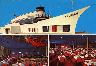 Promotional post card that shows rare interior shots.