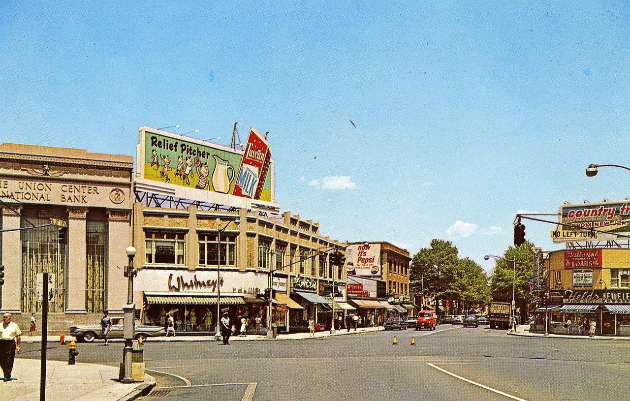 Union Center in the 60's when awnings were big.