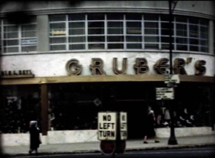 Grubers clothing store in Union Center from a 1948 film shot to commemorate Union's 140th anniversary.