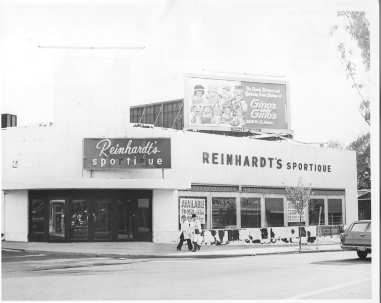 Reinhardt's Sportique on Stuyvesant and Rosemont ave. Was transformed into Jahn's and then demolished to build a Rite Aid.