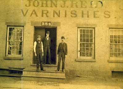 John J. Reid Vanishes. Mr. Bonnel on the left. Mr. Bond on the right. We assume Mr. Reid is in the middle.