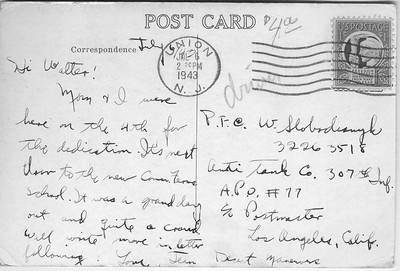 war memorial post card text