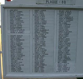 WW 2 plaque names