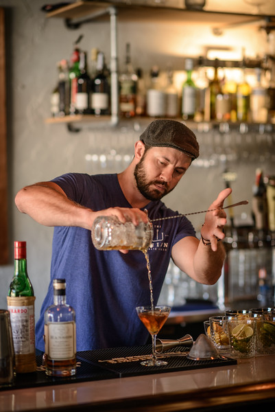 Union Public House Co-Owner Patrick Bolster makes a Martinez