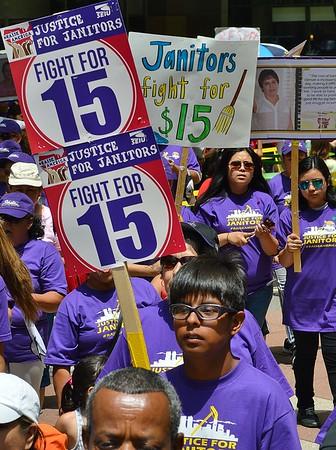 """Justice For Janitors"" March - Denver 6/18/15"