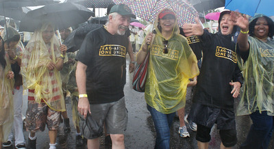 Despite the pouring rain, hundreds of union members marched in Philadelphia, PA on Labor Day. (9/2/13)