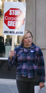 Jobs With Justice Verizon protest '11 (4)