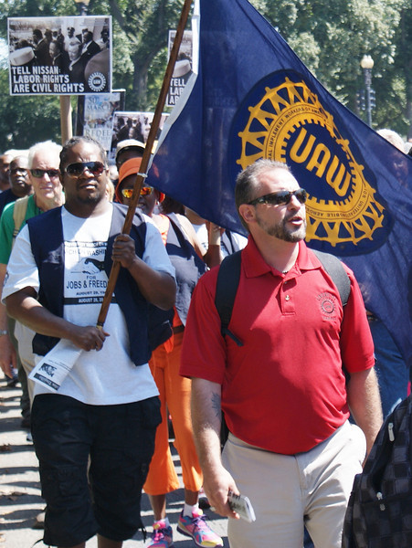 "Union members were among the  tens of thousands who gathered in the nations capitol to commemorate the ""50th Anniversary March On Washington"" (8/24/13)."