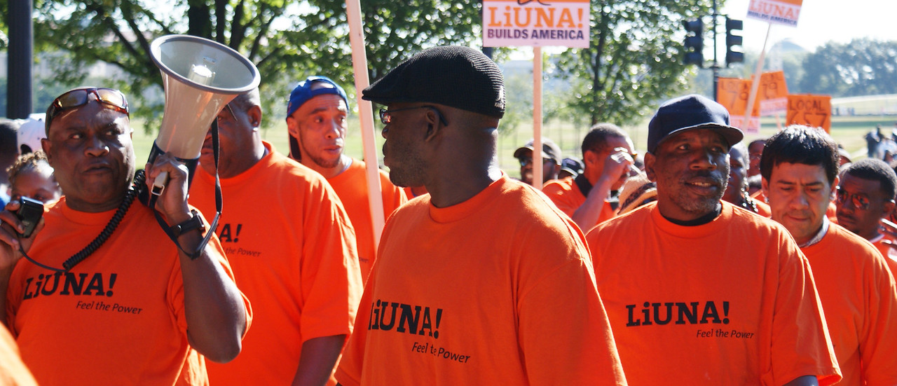 """Union members were among the  tens of thousands who gathered in the nations capitol to commemorate the """"50th Anniversary March On Washington"""" (8/24/13)."""