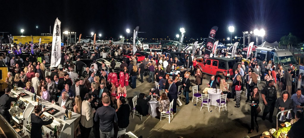 Concours d'Elegance's Hangar Party at Boca Aviation with thousands attending
