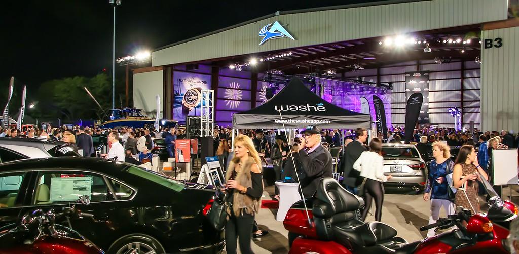 Concours d'Elegance's Hangar Party at Boca Aviation