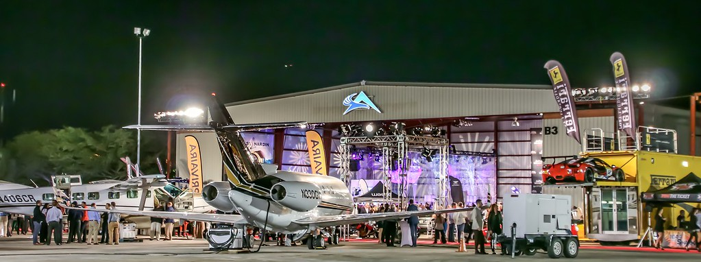 Concours d'Elegance's Hangar Party at Boca Aviation, a celebration with thousands attending