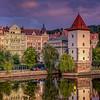 Water Tower Along Vtlava River, Prague, Czech Republic