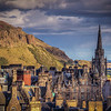 Arthurs Seat And Cathedral, Edinburgh Scotland