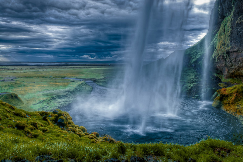 Seljalandsfoss Waterfall, South Iceland