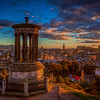 Sunset, Stewart Monument, Edinburgh Scotland