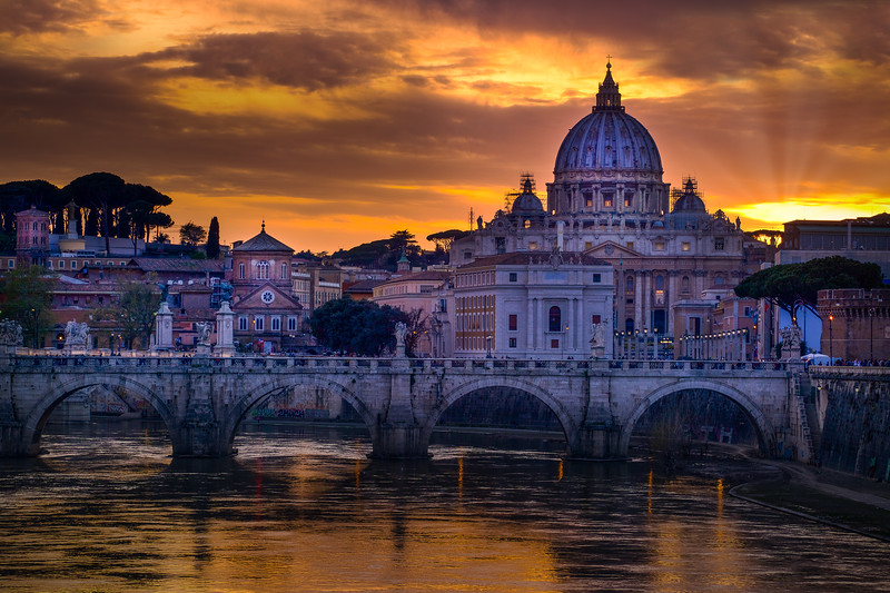 Vatican From Tiber River, Rome, Italy