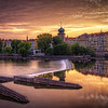 Sunset, Vltava River, Prague, Czech Republic