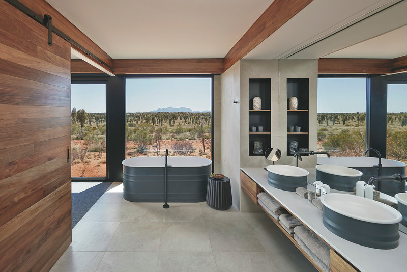 Longitude 131 Dune Pavilion bathroom Luxury Lodges of Australia Ayers Rock