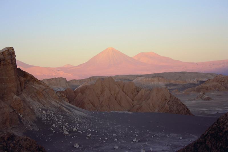 Sonnenuntergang in der Atacama-Wüste