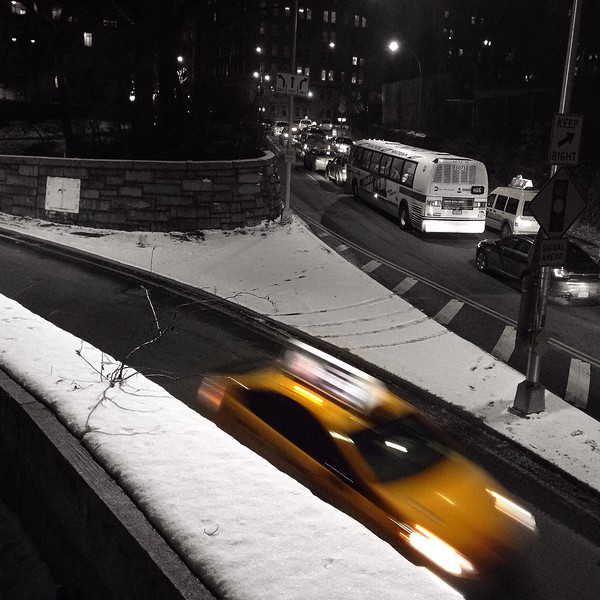 Winter walk home - 65th St Transverse